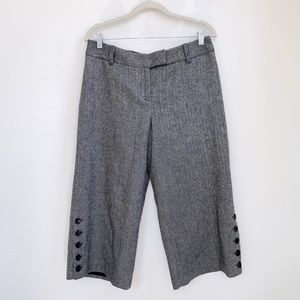 LOFT | Wool Blend High Rise Crop Trousers